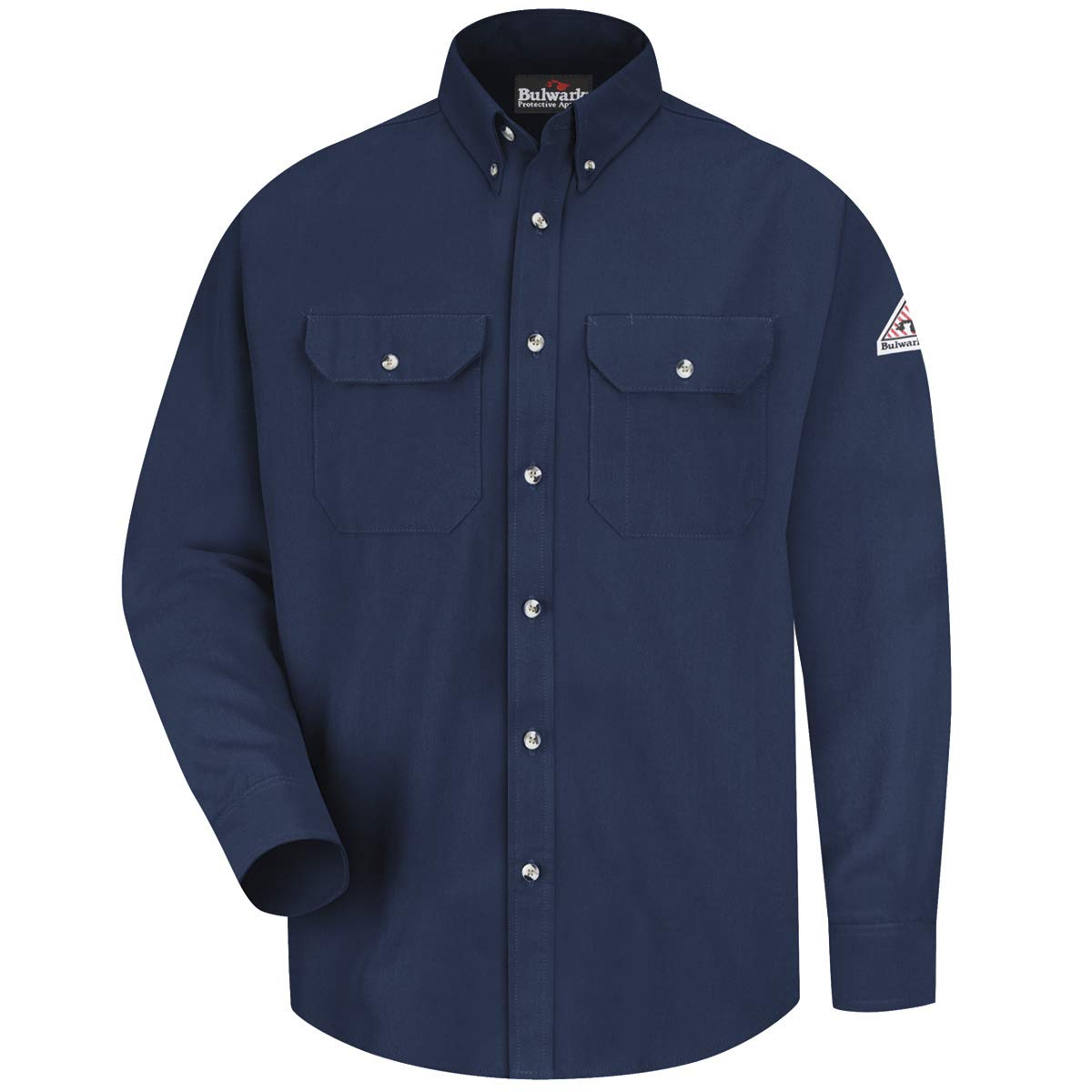 Bulwark Medium Navy Cool Touch 2 Flame Resistant Shirt With Button Closure