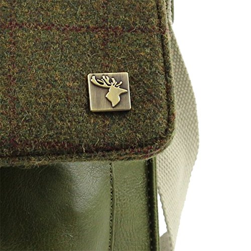 Bag Tweed Country Tweed Messenger Green Messenger 8SwH5txq