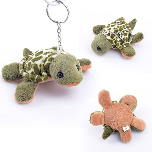 Gloveleya Green Sea Turtle Ocean Animal Stuffed Keychain Toys ()