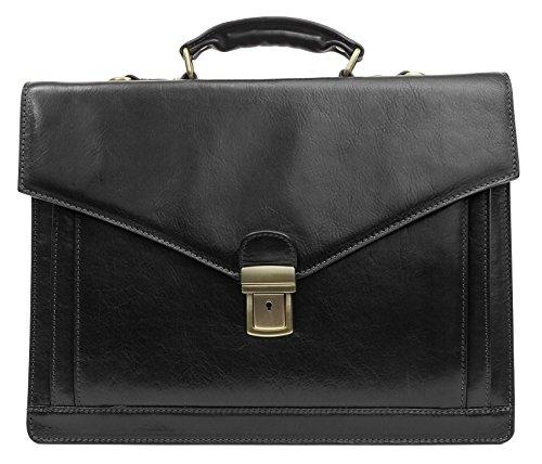 Leather Briefcase Laptop Medium Attache product image