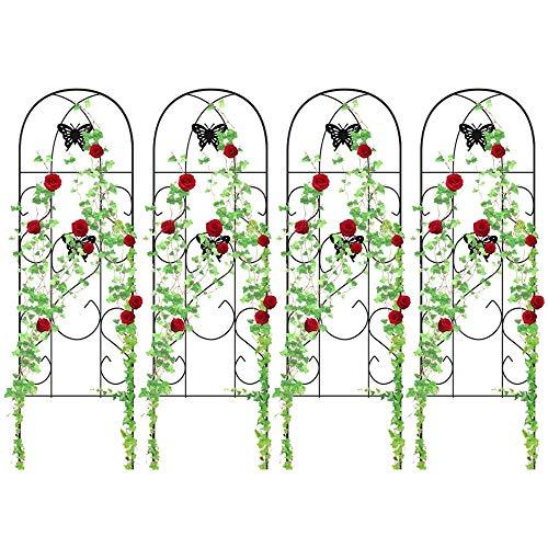 (4 Pack Garden Trellis for Climbing Plants 60