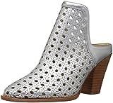 The Fix Women's Jaeda Open Weave Mule Shoetie Ankle Bootie,Matte Silver/Metallic,7 B US