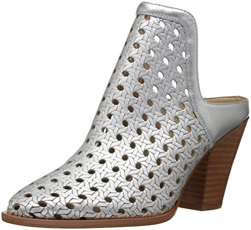 The Fix Women's Jaeda Open Weave Mule Shoetie Ankle Bootie,Matte Silver/Metallic,7 B US by The Fix