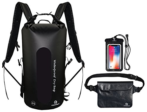 Freegrace Waterproof Dry Bags Set of 3 Dry Bag with 2 Zip Lock Seals & Detachable Shoulder Strap, Waist Pouch & Phone Case - Can Be Submerged Into Water for ()