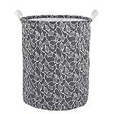Leslily Hamper, Waterproof Canvas Laundry Hamper Clothes Basket Storage Basket Folding Bag Hamper Bag