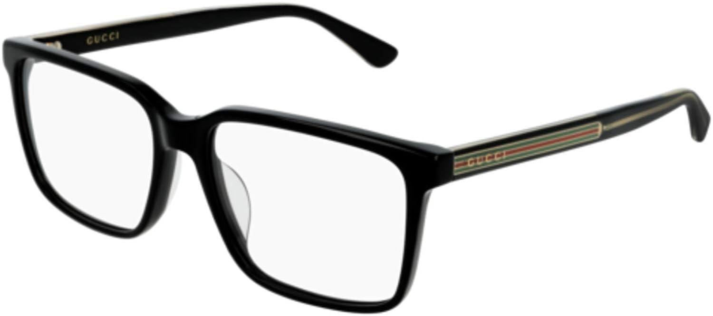 c885716e72d63 Amazon.com  Eyeglasses Gucci GG 0385 OA- 001 BLACK    Clothing