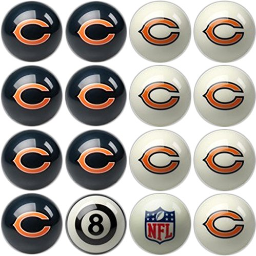 Imperial Officially Licensed NFL Merchandise: Home vs. Away Billiard/Pool Balls, Complete 16 Ball Set, Chicago Bears