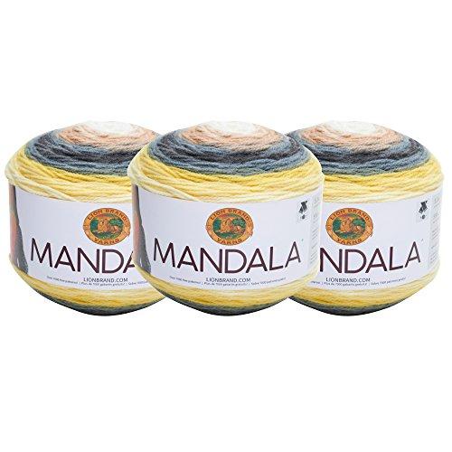 (3 Pack) Lion Brand Yarn 525-206 Mandala Yarn, Serpent