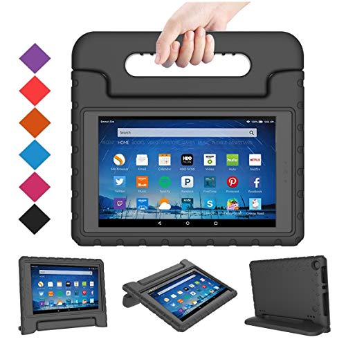 BMOUO Case for All-New Fire HD 8 2017/2018 - Light Weight Shock Proof Convertible Handle Kid-Proof Cover Kids Case for All-New Fire HD 8 Tablet (7th and 8th Generation