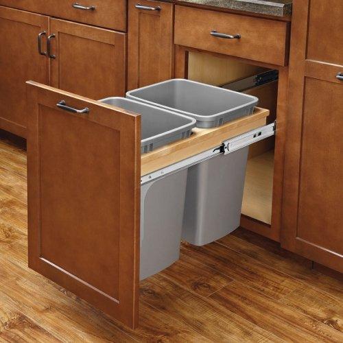 Rev-a-Shelf Double Trash Soft-Close Pullout 50 QT by Rev-A-Shelf