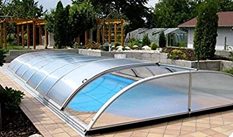 Aquanova Cubierta para piscina 4 x 8 m, baja, tamaños hasta Color 4, 25 m x 8, 00 M. Altura 0.90 m: Amazon.es: Jardín