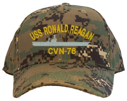 Ronald Reagan Baseball - USS Ronald Reagan CVN-76 Embroidered Baseball Cap - Digital Camo