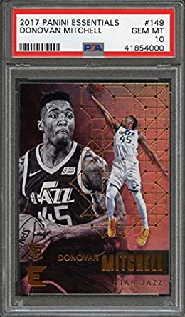 243d80aa4 2017-18 panini essentials  149 DONOVAN MITCHELL utah jazz rookie card PSA  10 Graded