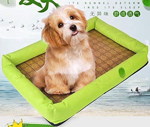 IANXI Home Cooling Kennel Cage Cooling Pet Bed Pets Cool Summer Sleeping Mat (Green,M) for Cat Dog