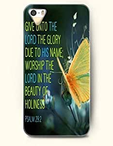 iPhone 4 4S Case OOFIT Phone Hard Case **NEW** Case with Design Give Unto The Lord The Glory Due To His Name Worship The Lord In The Beauty Of Holiness Psalm 29:2- Bible Verses - Case for Apple iPhone 4/4s
