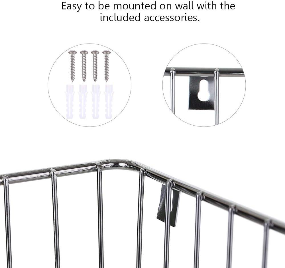 Fesjoy Support pour Table a Repasser Murale Panier de Rangement en Fer pour contenir Le Fer et la Table /à Repasser Support Mural pour Table /à Repasser