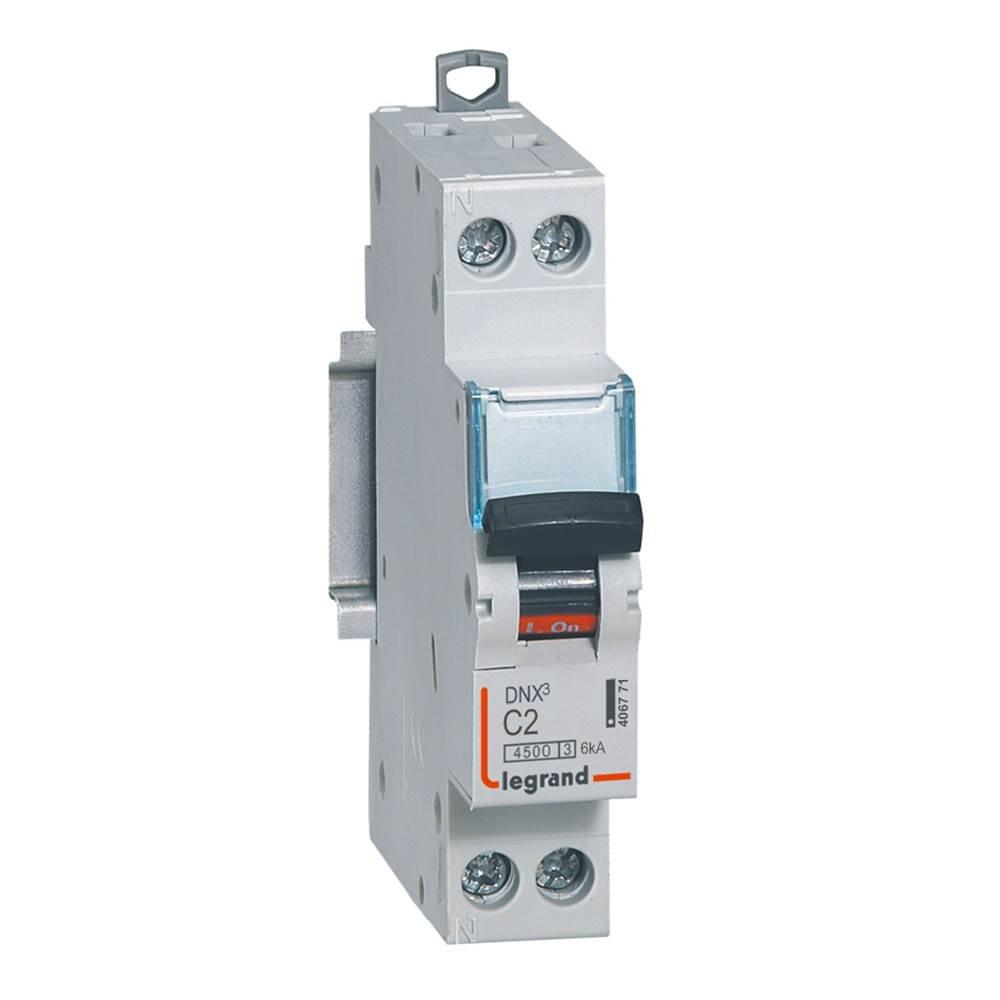 Legrand LEG406773 Disjoncteur dnx 4500 Vis/Vis U+N 230 V 10 A 4, 5 kA Courbe C 1 m Protection tableau electrique coupe circuit sectionneur contacteur inter diff interrupteur differentiel declencheur telerupteur parafoudre inter horaire sonnerie minuterie
