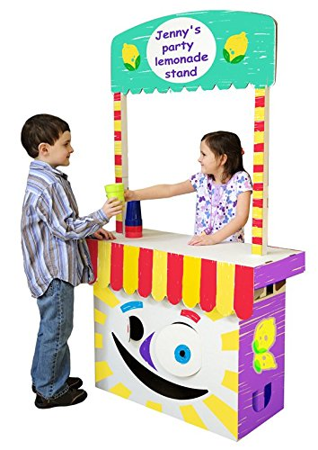 Children's Play Stand Perfect for Magic & Puppet Shows and as a Lemonade - Puppet Cardboard Theater