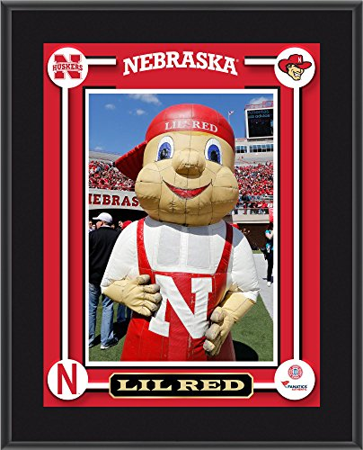 Nebraska Cornhuskers Lil Red Mascot 10.5'' x 13'' Sublimated Plaque - College Team Plaques and Collages