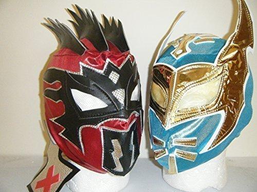 WRESTLING MASKS UK The Lucha Dragons Sin Cara & Kalisto Childrens Zip Up Wrestling Masks (Both (Sin Cara Costume For Halloween)