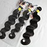 ALI HOT Hair Brazilian Virgin Human Hair Extension Body Wave, Mixed Length 16inch 18inch 20inch 3 Bundles 300g Per Lot