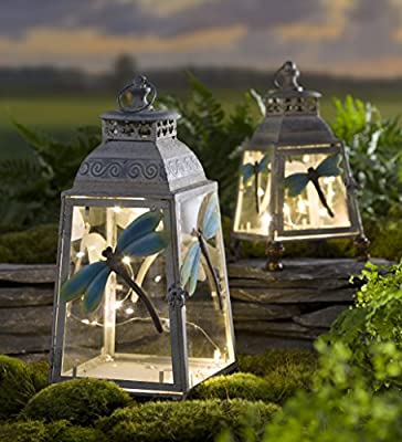 Small Metal Dragonfly Lantern