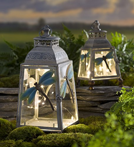 (Large Metal Dragonfly Lantern)