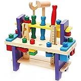 Boîte à Outils Jouet en bois Ensemble d'outils Ensemble de travail Construction Charpente de bois Ensemble intellectuel pour enfants