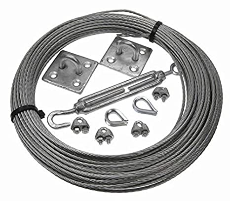 Westward Rope and Wire Galvanised Catenary Wire Kit 5 Metre 5mm 6x7FC