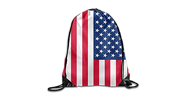 Amazon.com: New Style Sack Bag American Flag Cute School Beam Mouth Backpack drawstring backpack insulated cooler drawstring bag cute: Home & Kitchen