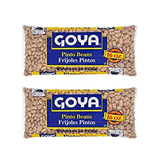 Goya Pinto Beans 16 oz per pack 2 Pack (Total of 32 oz/2 lbs) - Frijoles Pintos