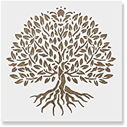 Yggdrasil Tree of Life Stencil Template - Reusable Stencil with Multiple Sizes Available