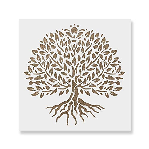 Life Template - Yggdrasil Tree of Life Stencil Template - Reusable Stencil with Multiple Sizes Available