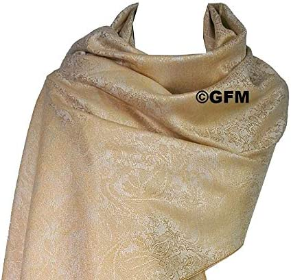 florales Paisley-Muster P093 Pashmina-Stil GFM Wickelschal