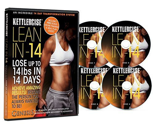 Kettlercise Lean In 14, 4 Disc DVD Collection - New Kettlebell...