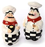 italian kitchen accessories - Chef Salt and Pepper Shaker Set