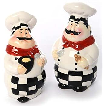 cheerful cool salt and pepper shakers. Chef Salt and Pepper Shaker Set Amazon com  1 X Bicycle Riding French And