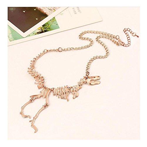 Fariishta Jewelry Personality Dinosaur Skeleton Pendant Necklace(rose - Dharma Sunglasses