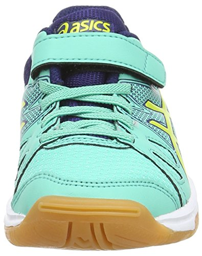 Asics Pre-upcourt Ps - Zapatillas de deporte interior Unisex Niños Azul (Aqua Mint/Flash Yellow/Indigo 7007)