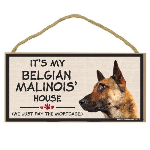 Imagine This Wood Breed Decorative Mortgage Sign, Belgian Malinois