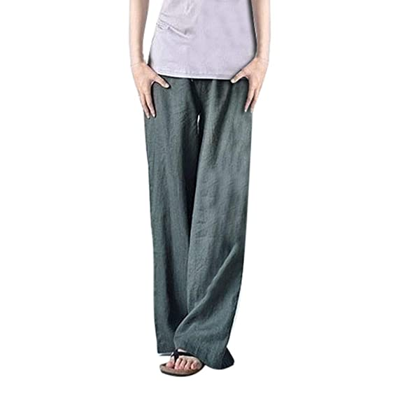 Mujer Pantalones Tallas Grandes Elasticos Invierno Largos Cintura Alta para  Pierna Ancha para Hombres De Talla fae05a9bf41c