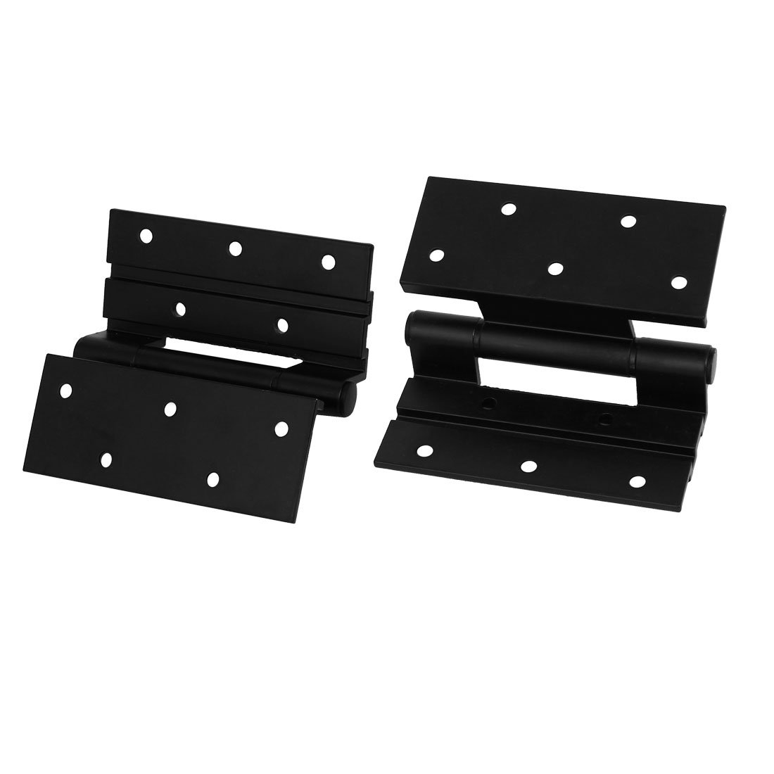uxcell Window Door 4-inch Long Aluminum Alloy Screw Fixed Stormproof Butt Hinge Black 2pcs