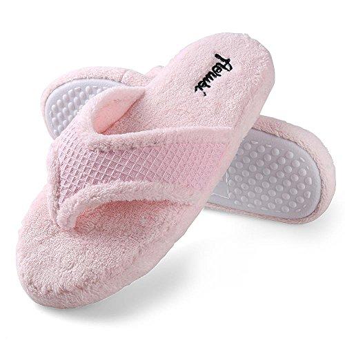 Aerusi Bella Casa Coperta Pantofole Slip-on Morbido Caldo Camera Da Letto Calzature Spa Rosa