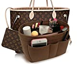 LEXSION Felt Handbag Organizer,Insert purse organizer Fits Speedy Neverfull Brown M