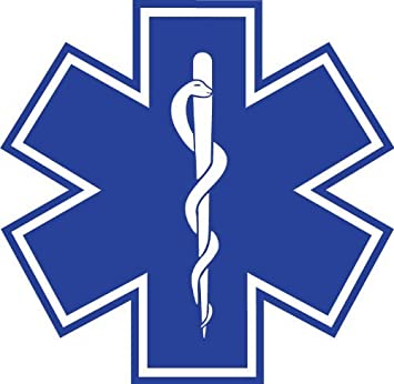Eastern Star Paramedic Medium Star of Life Reflective Decal Sticker