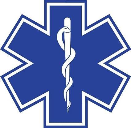 amazon com star of life 4 x4 sticker decal vinyl blue medical ems rh amazon com Star of Life Clip Art OES Star Clip Art