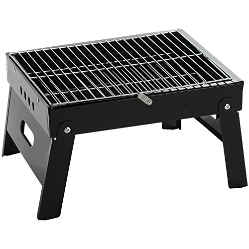 Pedestal Grill Stainless Charcoal (Grills Out Grills Portable Folding Legs a Barbecue Grill Camping Outdoor Stainless Steel Pedestal Charcoal Barbecue BBQ Grill Utensil 3-5 People)
