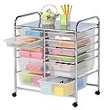 Finnhomy 12 Drawer Rolling Cart Organizer,Storage