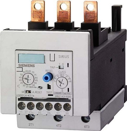 With Pass Through CTs Siemens 3RB21 43-4EW1 Solid State Overload Relay 1 NO Screw Connection S3 Contactor Size 25-100A Set Current Value With Pass Through CT/'s 3RB21434EW1 Auxiliary Current Side 1 NC Contact Type