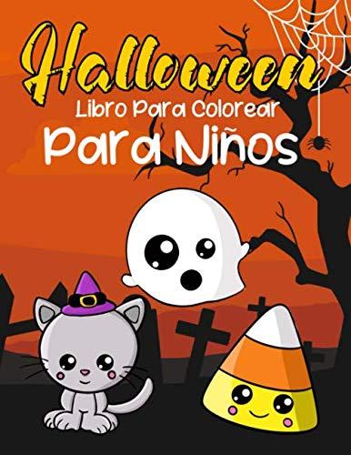 Fantasmas Para Halloween (Halloween Libro Para Colorear Para Niños: Animales Bonitos En Disfraz  Libros Para Niños y Niñas Dibujos De Miedo Para Colorear Para Niños Pequeños Fácil De Dibujar Dia De Las)